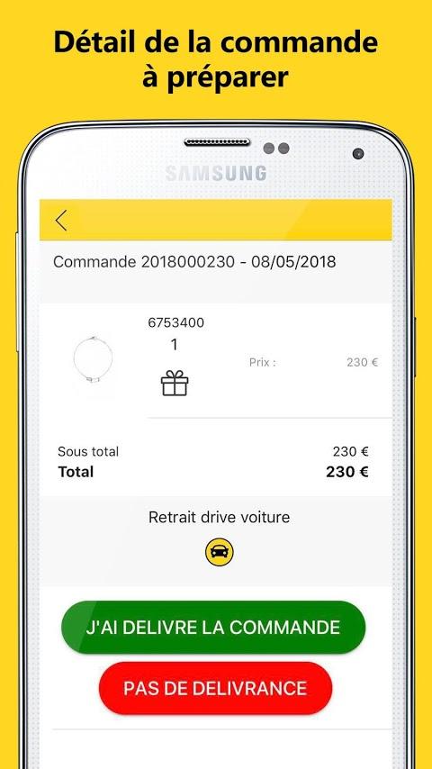 Détail commande application Pitstop